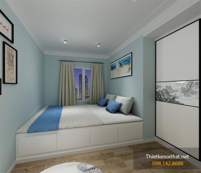thiết kế nội thất phòng ngủ nhỏ 7m2